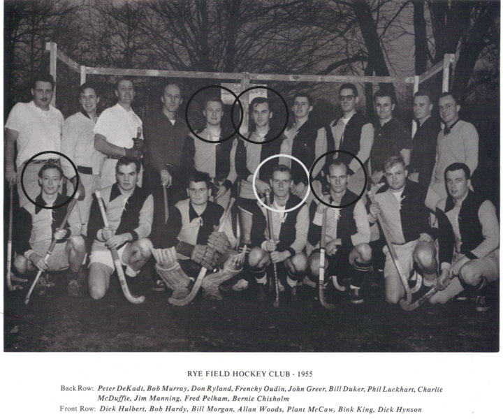 <bold>Allan, Plant, Bill, John and Dick in the Rye team of 1955</bold>